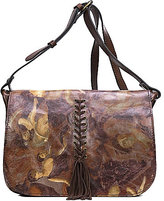 Patricia Nash Roman Goddess Collection Positano Tasseled Braided Square Saddle Bag