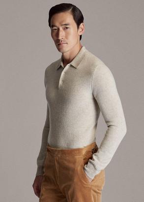 Ralph Lauren Cashmere Polo-Collar Sweater