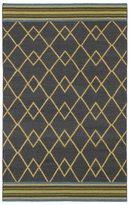 Tribeca Flatweave Ziggy Charcoal Wool Rug (8' x 10')