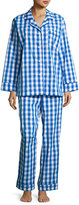 BedHead Gingham-Print Pajama Set, Navy
