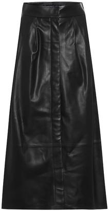 ZEYNEP ARCAY Leather A-line midi skirt