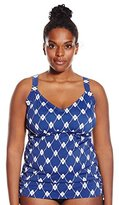 Maxine Of Hollywood Women's Plus-Size Treasure Underwire Tankini
