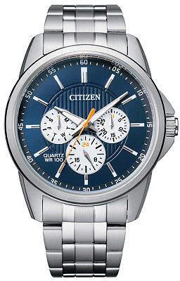 Citizen Quartz Mens Silver Tone Stainless Steel Bracelet Watch-Ag8340-58l Family