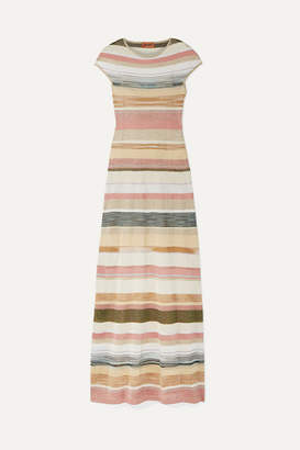 Missoni Striped Metallic Crochet-knit Maxi Dress - Gold