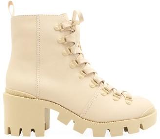 Schutz Xayane Lug-Sole Leather Combat Boots