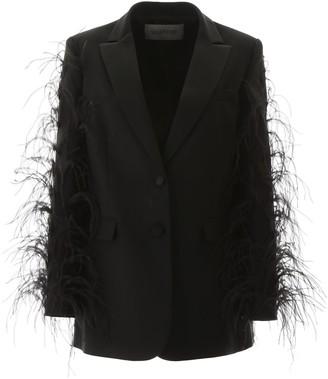 Valentino Feathered Sleeve Blazer
