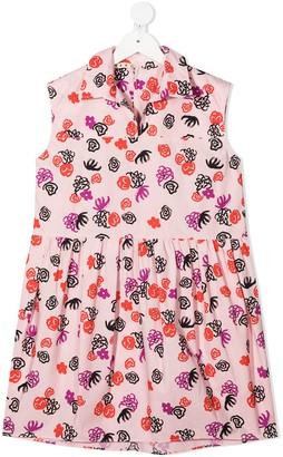 Marni Floral-Print Ruched-Detail Dress