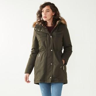 Nine West Women's Faux-Fur Hood Down Fill Parka Jacket