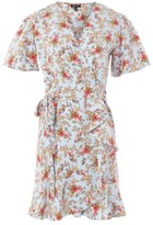 Topshop Women's Confetti Floral Wrap Tea Dress