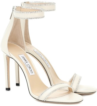 Jimmy Choo Dochas 100 embellished leather sandals