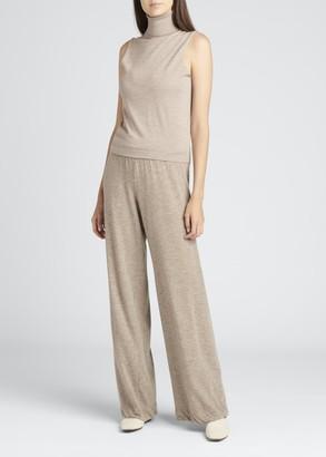 The Row Becca Cashmere/Silk Turtleneck Top