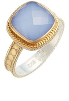 Anna Beck Women's Blue Chalcedony Cushion Ring
