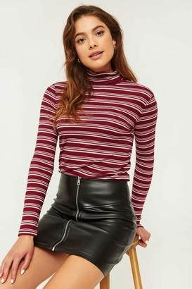 Ardene Striped Turtleneck Sweater
