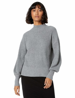 The Drop Women's Gwen Long-Sleeve Mock-Neck Ribbed Sweater