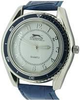 Slazenger Men's Quartz Watch with Blue Dial Analogue Display and Blue PU Strap SLZ183/E