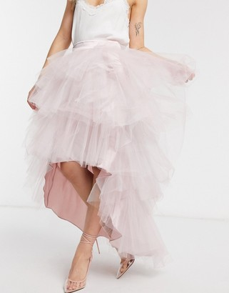 Chi Chi London tiered skirt in mink