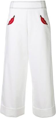 VIVETTA cropped palazzo trousers
