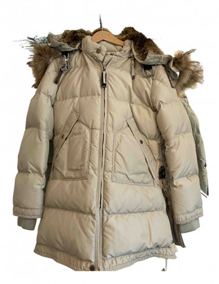 Parajumpers Beige Polyester Jackets & Coats