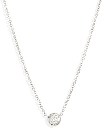Bony Levy Small Bezel Diamond Solitaire Necklace
