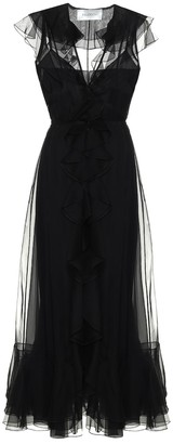 Valentino Silk organza midi dress