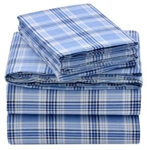 EnvioHome Flannel Sheet Set, King Bedding