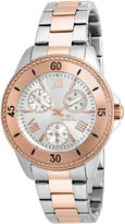 Invicta Angel Womens 18K Rose Gold Ion Plated & Silver Stainless Steel Bracelet Watch