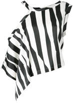 Ann Demeulemeester striped asymmetric blouse