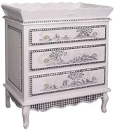 The Well Appointed House Hand Painted Toile Three Drawer French Chest with Changer