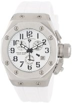 Swiss Legend Women's 10535-02-BLKA Trimix Diver Chronograph White Dial White Silicone Watch