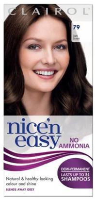 Clairol Nice'n Easy Semi-Permanent Hair Dye with No Ammonia (Various Shades) - 79 Dark Brown