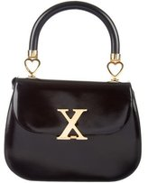 Moschino Patent Leather X-Embellished Satchel