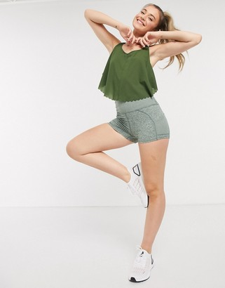 FREE PEOPLE MOVEMENT off beat shorts in army