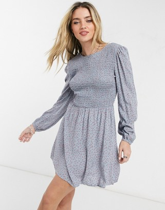 Cotton On Cotton:On long sleeve mini dress in ditsy sky