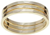 Journee Collection Women's Hammered Trio Ring Set in Sterling Silver