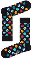 Mens Happy Socks Black Clashing Dot Print Socks - Black