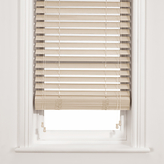 John Lewis Wood Venetian Blind, Chalk, 50mm