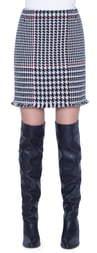 Akris Punto Glen Check Wool Blend Miniskirt
