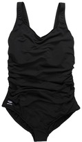 Speedo Plus Size Side Shirred Tank One Piece Women's Swimwear