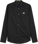 Philipp Plein Stay Fresh Black Stretch Cotton Shirt