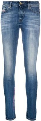 Diesel Slandy mid rise skinny jeans