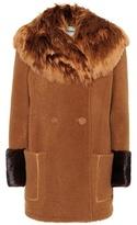 Fendi Fur-trimmed shearling coat
