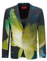 HUGO BOSS Cotton Sport Coat, Slim Fit Arelto 36R Patterned