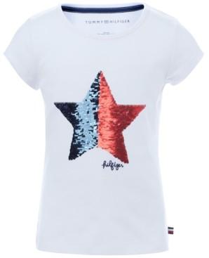 Tommy Hilfiger Big Girls Flip Sequin T-Shirt