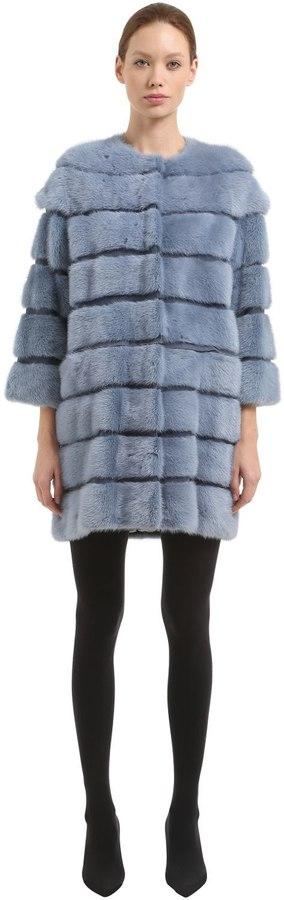 Simonetta Ravizza Mink Fur Coat W/ Detachable Panels