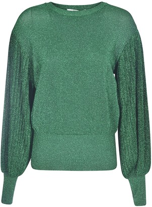 MSGM Glitter Applique Sweater