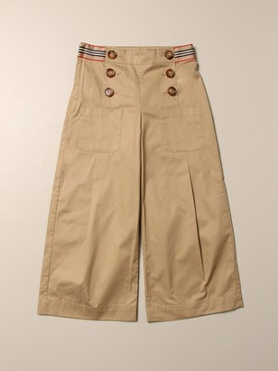 Burberry Wide High Waist With Buttons