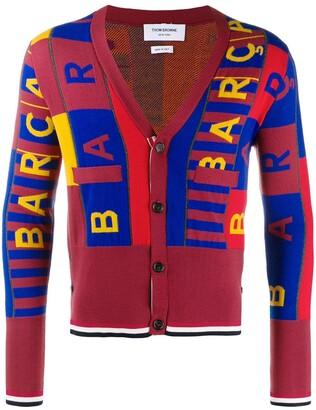Thom Browne FCB intarsia merino wool cardigan