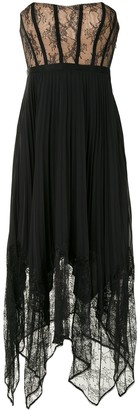 Jonathan Simkhai Scarlett strapless pleated midi dress