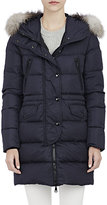 Moncler Women's Parka With Fur-Trimmed Hood-NAVY