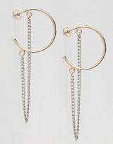 Monki Hoop Chain Earrings